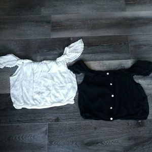 🐛Ambiance crop tops in color White and Black
